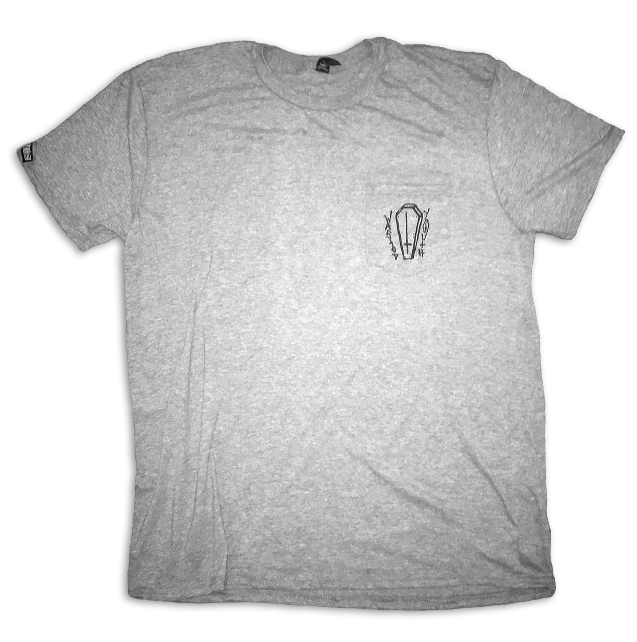 Grey Coffin Pocket Tee