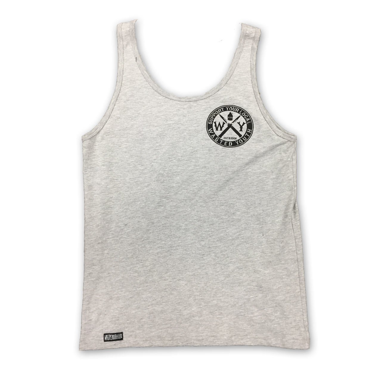 Wasted Crest Tank Grey
