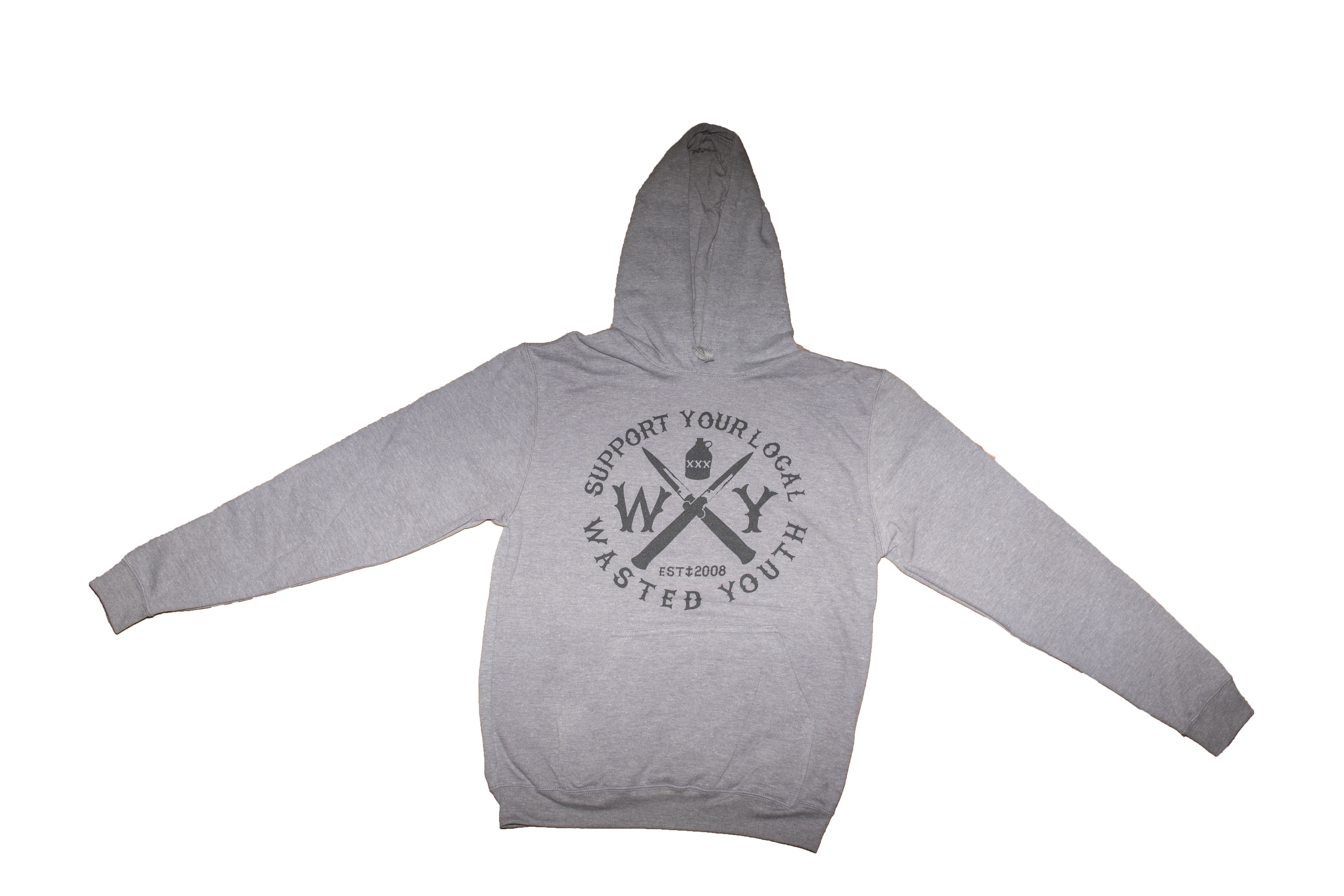 Gray Hollow Crest Hoodie