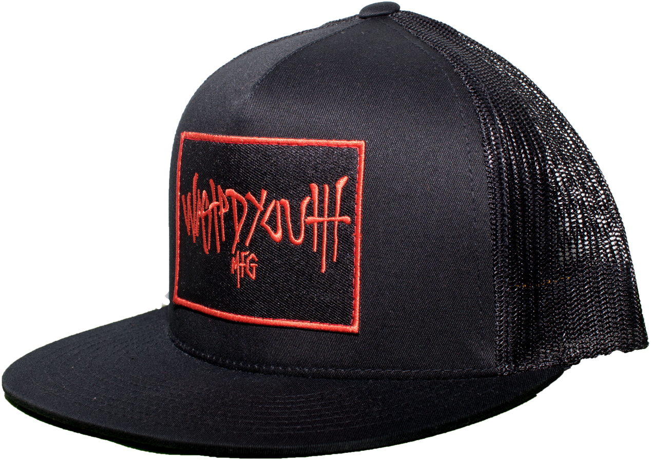 Black Mesh Snap Back